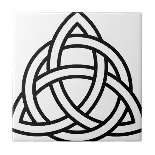Nudo IV de Triquetra del Celtic Azulejo Cuadrado Pequeño