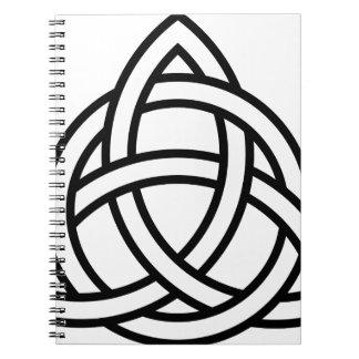 Nudo IV de Triquetra del Celtic Libreta
