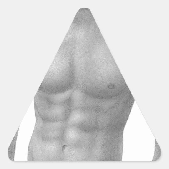 Nudo maschile 11 triangle sticker