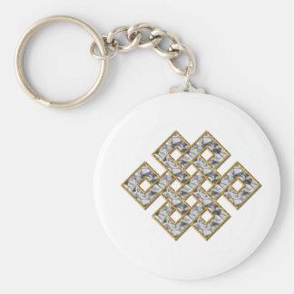 Nudo místico - plata y oro 1 llavero redondo tipo pin