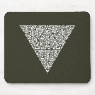 Nudo Mousepad del triángulo de Whitework Tapete De Raton