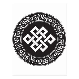 Nudo sin fin budista postal