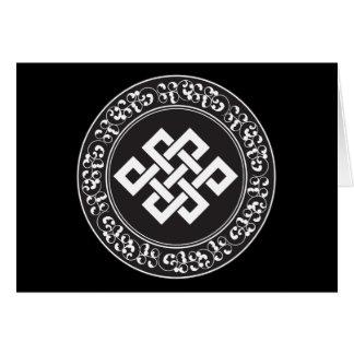 Nudo sin fin budista felicitacion