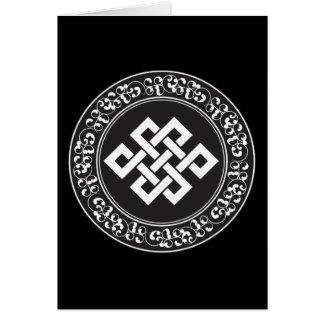 Nudo sin fin budista tarjeton