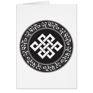 Nudo sin fin budista tarjetas