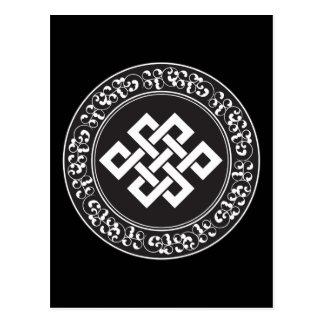 Nudo sin fin budista tarjeta postal