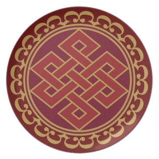 Nudo sin fin eterno budista platos