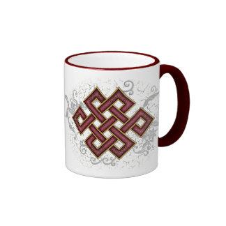 Nudo sin fin taza de café