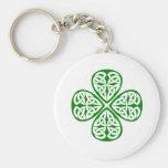 nudo verde del celtic del trébol llavero