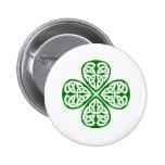 nudo verde del celtic del trébol pin