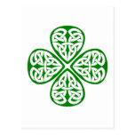 nudo verde del celtic del trébol postal