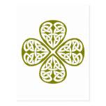nudo verde oliva del celtic del trébol postal