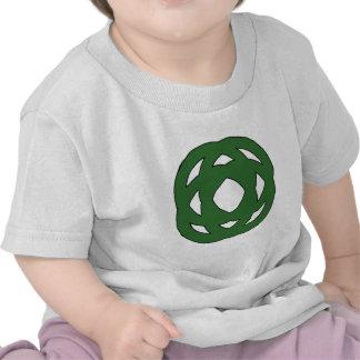 Nudo verde simple del círculo camisetas