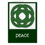 Nudo verde simple del círculo tarjeta de felicitación