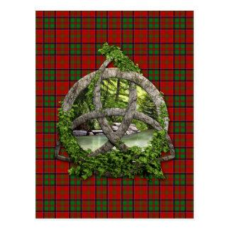 Nudo y clan célticos MacDonald de la trinidad de Tarjetas Postales