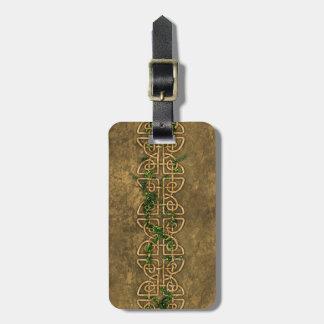 Nudos célticos decorativos con la hiedra etiquetas para equipaje