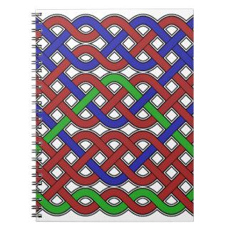 Nudos célticos del azul verdes y rojos