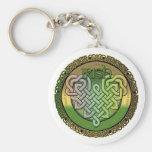 Nudos célticos irlandeses - el día de St Patrick Llavero Personalizado