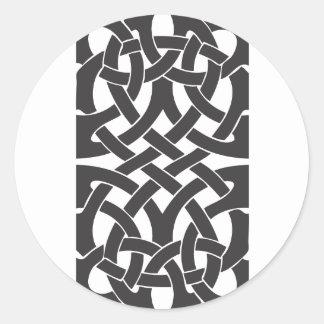 Nudos célticos pegatina redonda