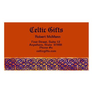 Nudos cuadrados célticos en la paprika plantillas de tarjetas de visita