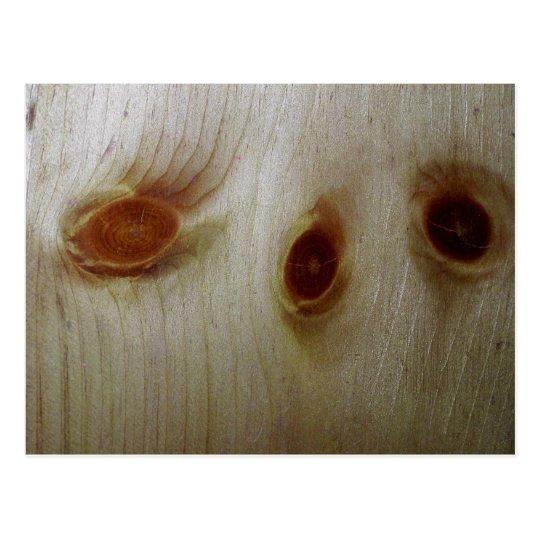 Nudos de madera tarjetas postales