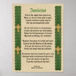 Nudos del poema de Invictus, del Victorian y cruce Póster
