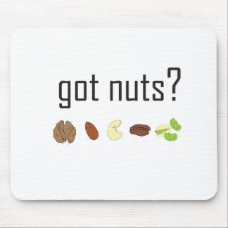 ¿nueces conseguidas? (fila de nueces) mousepads