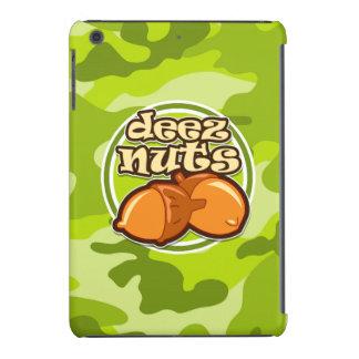 Nueces de Deez; camo verde claro, camuflaje Fundas De iPad Mini Retina