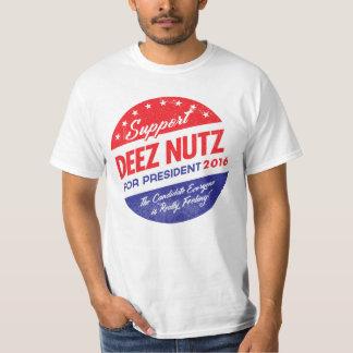 Nueces de Deez para el presidente Playera