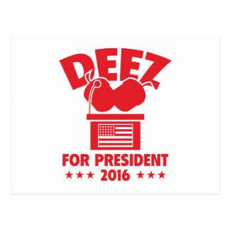 Nueces de Deez para el presidente Tarjetas Postales