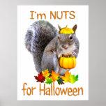 Nueces de la ardilla para Halloween Impresiones