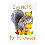 Nueces de la ardilla para Halloween Invitación 12,7 X 17,8 Cm