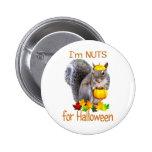 Nueces de la ardilla para Halloween Pins