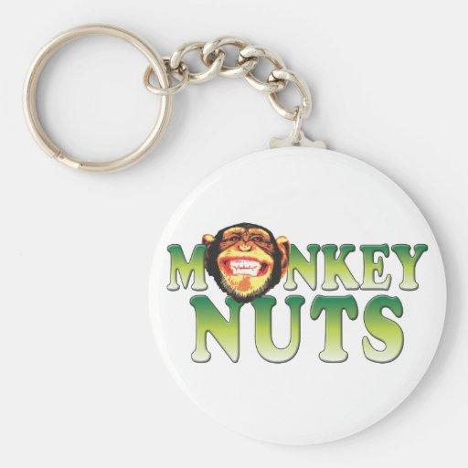 Nueces de mono llaveros personalizados