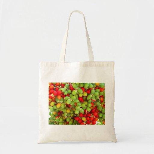 nueces de palma verde y rojo bolsa de mano