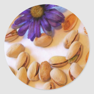 nueces de pistacho etiquetas redondas