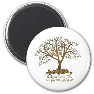 Nueces del árbol de familia imán redondo 5 cm
