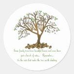 Nueces del árbol de familia pegatina