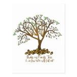 Nueces del árbol de familia postal