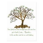 Nueces del árbol de familia postales