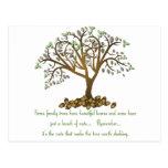 Nueces del árbol de familia tarjetas postales