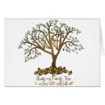 Nueces del árbol de familia tarjeton