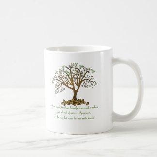Nueces del árbol de familia tazas