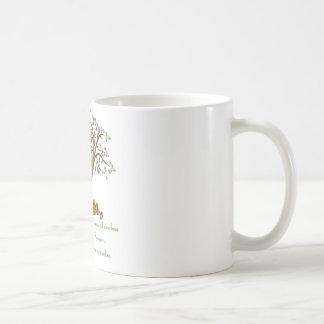 Nueces del árbol de familia tazas de café