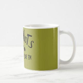 Nueces del maya tazas de café