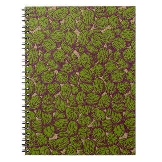 Nueces del otoño spiral notebooks