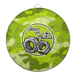Nueces divertidas camo verde claro camuflaje tablero dardos