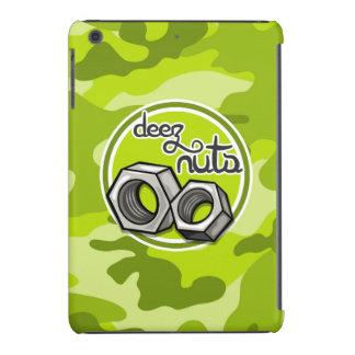 Nueces divertidas; camo verde claro, camuflaje fundas de iPad mini