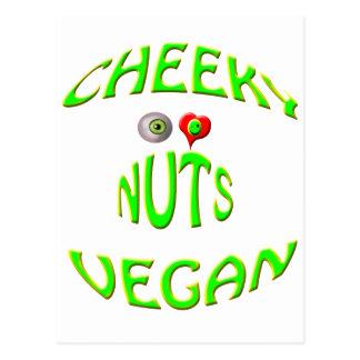 nueces frescas del amor del vegano i tarjeta postal