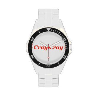 ¡Nueces locas que van locas de Cray Cray! Animal s Relojes De Mano